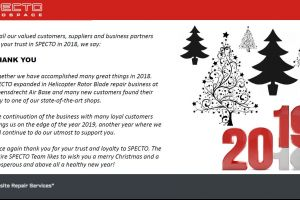 Seasons Greetings from SPECTO Aerospace
